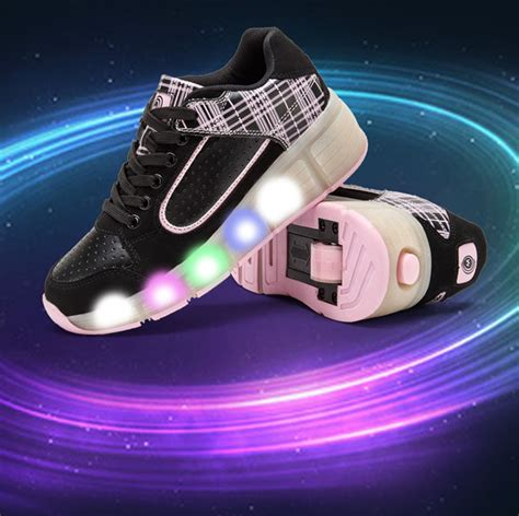 wheels light up shoes led lights heelys shoes with led light up wheels