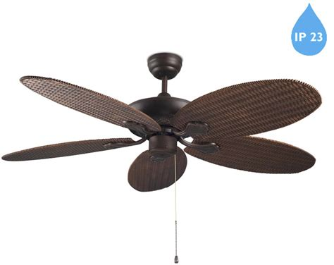 copper ceiling fan with light leds c4 phuket ip23 pull chain ceiling fan with optional