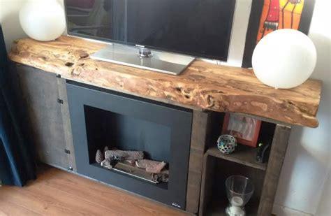 muebles de madera rustica para tv