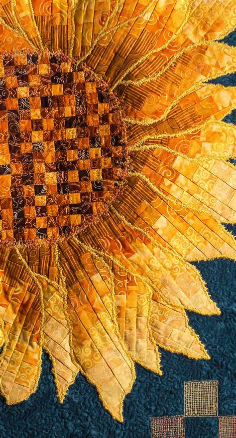 Sunflower Quilt by Sunflower Bargello Applique Quilt Quilts By Jen