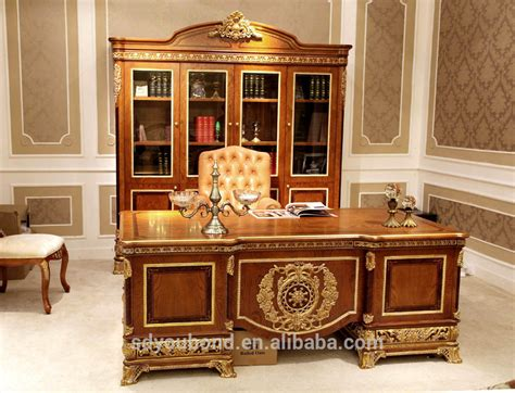 classic home office furniture 0062 european style luxury wooden executive office desk