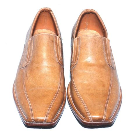 handmade mens brown color leather sole dress shoes with