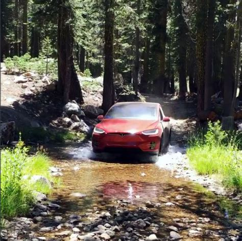 tesla off road vehicle the last thing you d expect to find in the woods is a