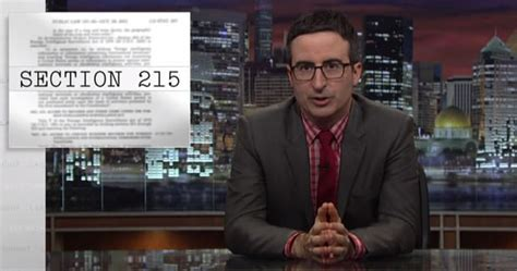 section 215 of the usa patriot act john oliver et edward snowden expliquent le patriot act