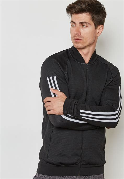 shop adidas black id knit bomber jacket cg  men