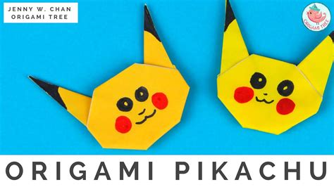 pikachu origami cube origami cube step by step image collections craft