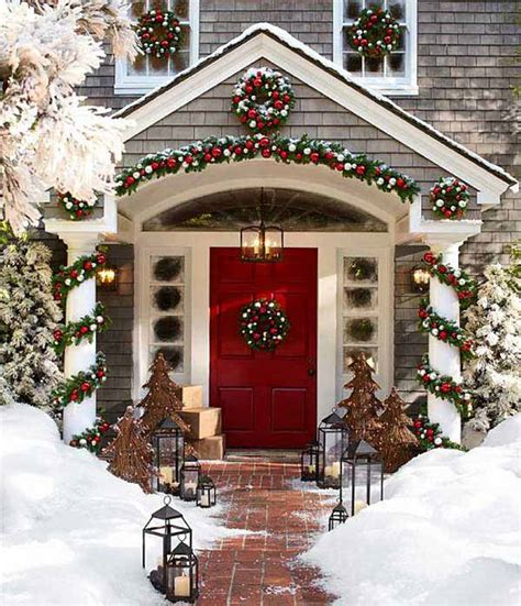 outside home christmas decorating ideas 40 cool diy decorating ideas for christmas front porch