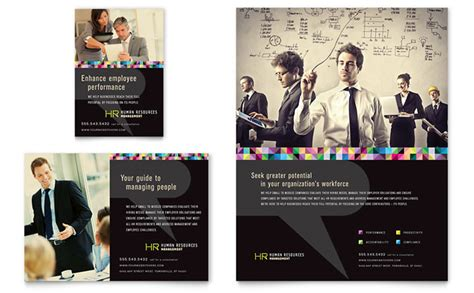 human resource management flyer amp ad template design
