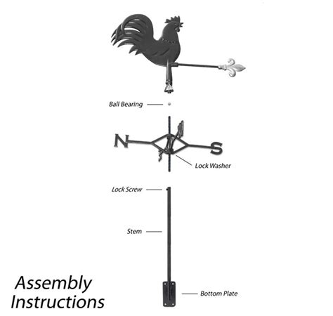 Weathervane Parts Rooster Weathervane Wind Vane Free Shipping