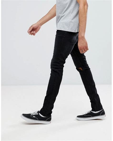 Cheap Monday Black Rips Knee Only lyst cheap monday tight black with
