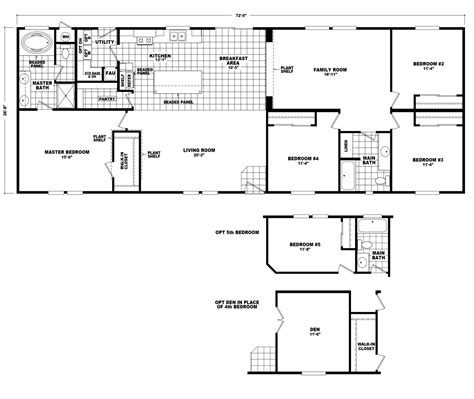 floorplan or floor plan model hi2872c manufactured home floor plan or modular