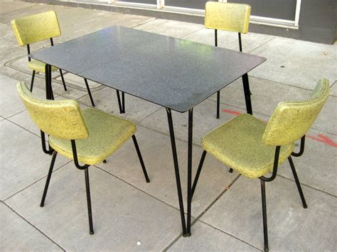 1960 kitchen table and chairs uhuru furniture collectibles sold 1960s kitchen table