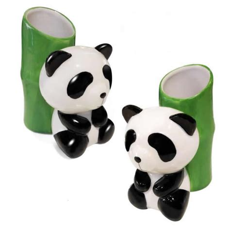 panda bathroom bamboo toothbrush holder promotion shop for promotional