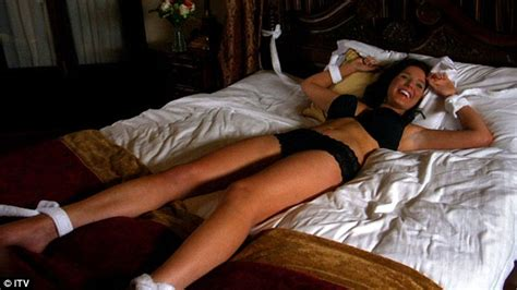 tied up in bed coronation street s helen flanagan tied to a bed as sexy
