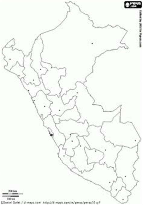 coloring page map of peru map of the republic of peru coloring page