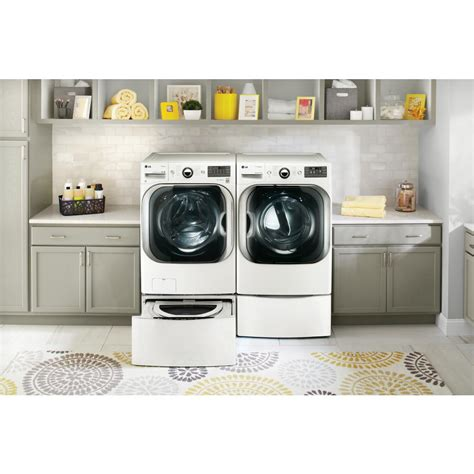 washer and dryer storage drawers lg 29 quot wide washer dryer laundry pedestal w storage