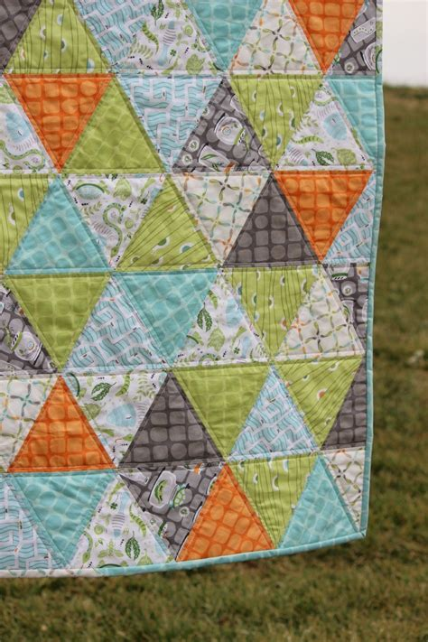pattern quilts baby boy quilt triangle quilt backyard baby easy quilts