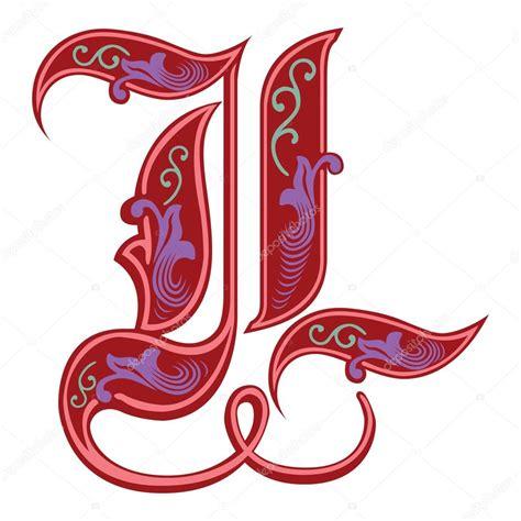 lettere in gotico alfabeti inglese decorazione stile gotico lettera