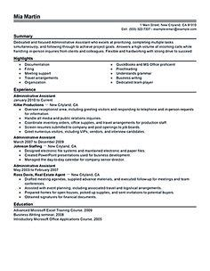 administrative assistant resume should be well noticed if administrative assistant performance goals exles