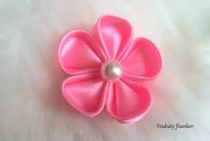 ribbon flowers diy how to make a kanzashi ribbon flower