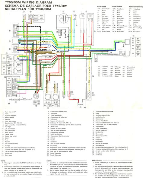 yamaha ty 50 wiring diagram