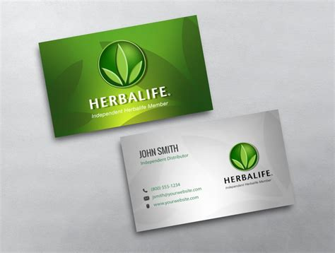 official card business card templates herbalife business card 05