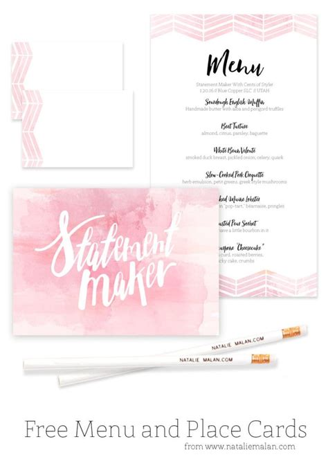 Dinner Place Cards Template Free by 9 Best Images About Baby Shower On Watercolors