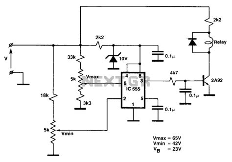 narva voltage sensitive relay wiring diagram circuit and