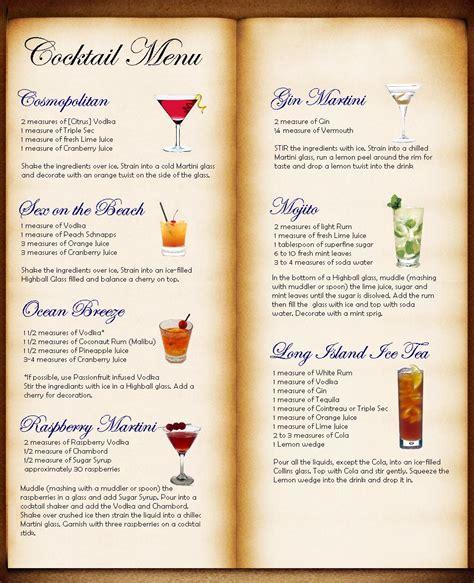 bar menu bar drink menu ideas www pixshark com images galleries