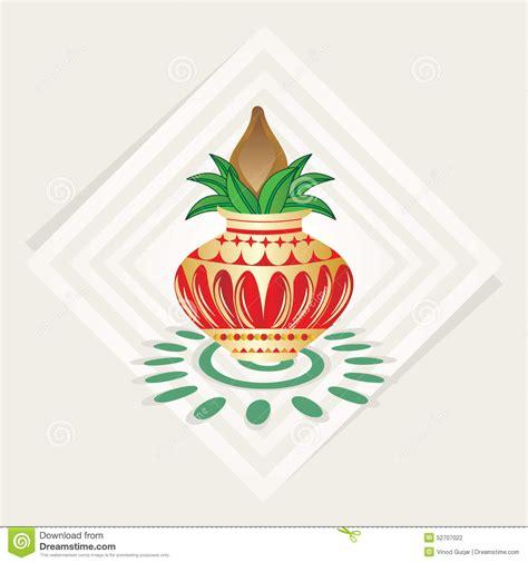 wedding kalash clip kalash illustration with color background stock