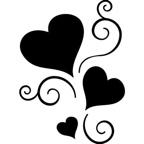 scroll hearts sticker tattoo vinyl decal by seeyou276 on