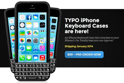 Diskon Typo Keyboard For Iphone 5 5s Black iphone向けblackberry風キーボードケースのtypoをblackberryが訴える seed