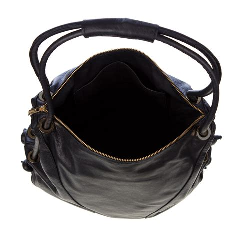 Best Handmade Leather Bags - stephen italian made black leather top handle designer handbag