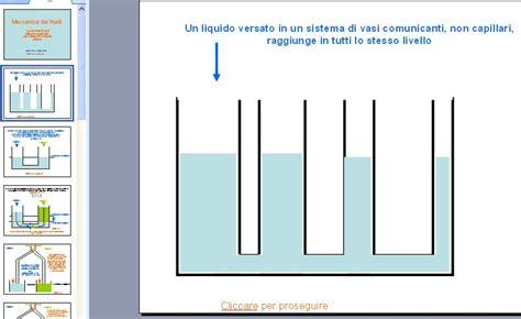 principio dei vasi comunicanti meccanica dei fluidi