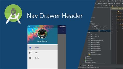 customize navigation drawer header  android studio youtube
