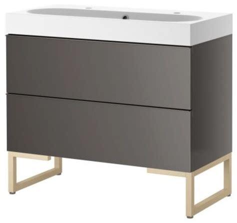 Modern Bathroom Vanities Ikea Godmorgon Br 197 Viken Sink Cabinet With Two Drawers Gray Birch Scandinavian Bathroom Vanities