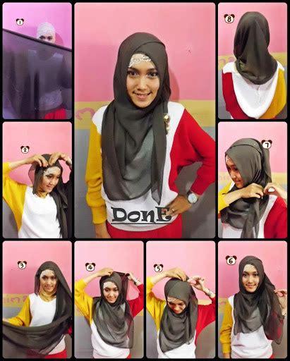 Jilbab Segi Empat Dan Cara Pemakaiannya cara memakai jilbab segi empat kreasi modern yang cantik