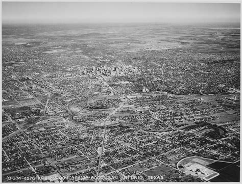 San Antonio Records Free File Aerial View Of San Antonio And The Surrounding Plains 12 1939 Nara