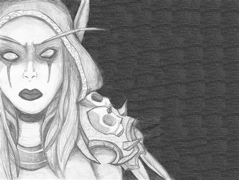 how to draw sylvanas lady sylvanas windrunner by nitagar on