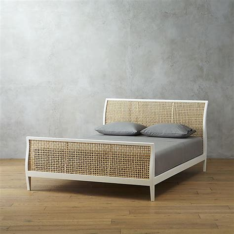 rattan bed frame white rattan bed frame nomad bed white rattan bed loaf