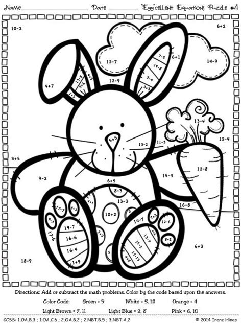 easter coloring pages for 2nd grade easter math color by numbers coloring pages math