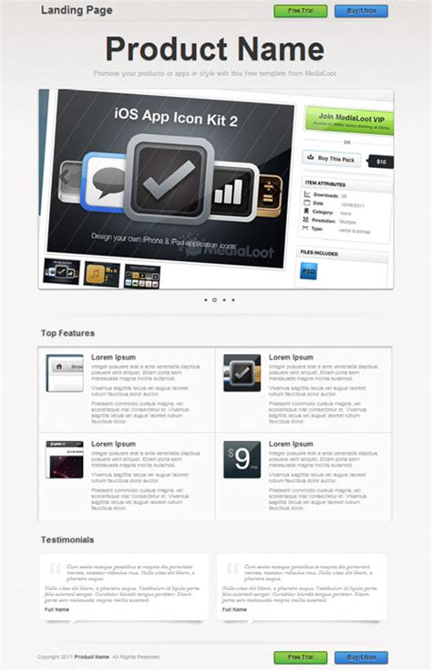 best landing page templates download beatfiles