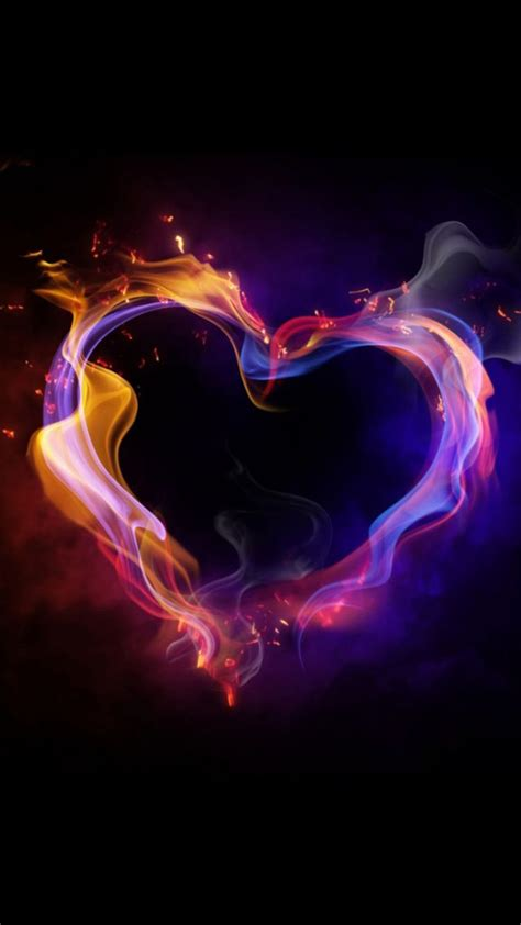 colorful wallpapers of love colorful love heart of smoke wallpaper free iphone