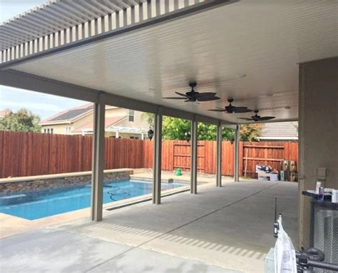 Wall Attached Patio Cover With Lattice Scallop In Patio Covers Sacramento