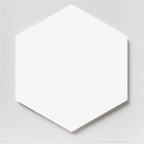 johnson tiles select collection prismatics white hexagon gloss