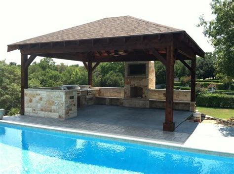 backyard designs with pool and outdoor kitchen triyae com backyard designs pool outdoor kitchen