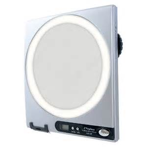 zadro fogless lighted shower mirror silver target