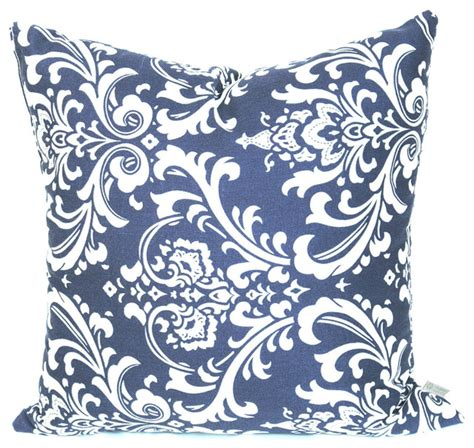 Patio Cushions Navy Blue Outdoor Quarter Pillow Large Navy Blue