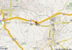 map of inn express hickory hickory mart newton