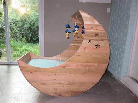 Moon Cot Baby Cradle Rainbow - crafted half moon cradle pallet furniture half moon